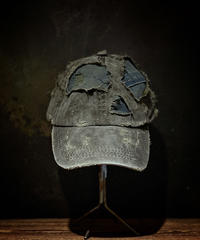 Vintage damage & patchwork CAP (襤褸)(KHAKI)