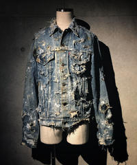 Vintage hard damage denim jacket (襤褸)