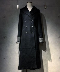 Damage Black Long Coat