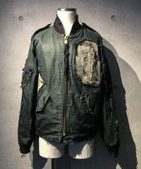 Different fabrics Sewn MA-1 JACKET (KHAKI)