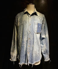Damage vintage Denim shirt