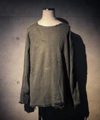 Damage long sleeve T-shirt