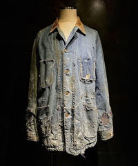 Hard damage vintage Denim coverall jacket
