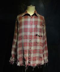 Vintage damage check shirt