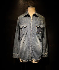 Vintage damage denim shirt #6