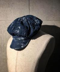 Bio wash vintage denim casquette (indigo)