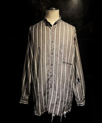 Vintage damage Stripe shirt