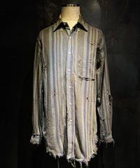 Vintage stripe damage shirt