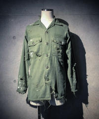 Vintage damage& paint military shirt
