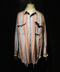 Damage vintage stripe shirt #1