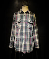 Vintage damage plaid shirt #3