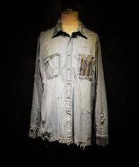 Vintage damage BORO denim shirt (襤褸)