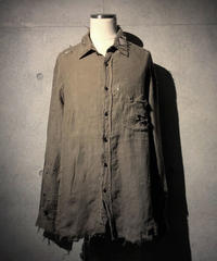 Vintage damage linen shirt