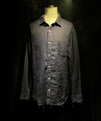 Vintage damage linen shirt #1