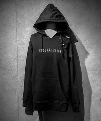 The Revival damage Hoodie BLACK