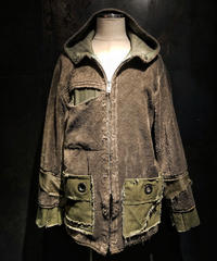 Different fabric military hoodie