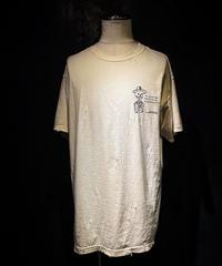 Double jacket skull T-shirt OLD WHITE