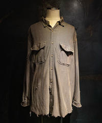 Vintage damage tweed shirt