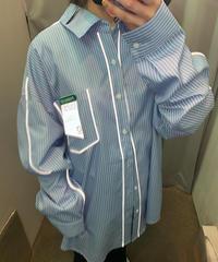 光るストライプシャツ(NO4625)