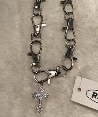 スナップフック十字架ネックレス(NO.A10125)