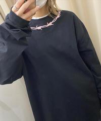 鎖刺繍ロンT(NO.4375)