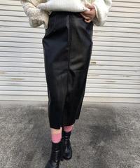 fAKE leatherタイトskirt