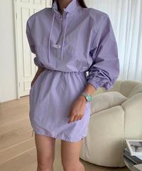nylon pullover skirt set up/3color