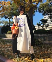 カシミアsmile knit one-piece