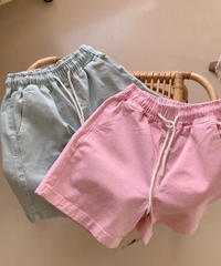 washデニムshort Pants Blueカラー