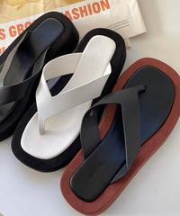 leather row sandal