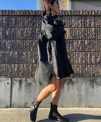 neckフリルBackリボンblouse dress《ブラック》