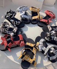 bandanna rubber sandal