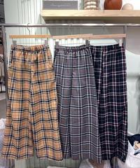 checkネルストレートpants/3 color