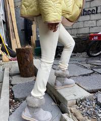 colorful  corduroy  zip  pants アイボリー