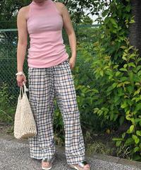 summer check pants
