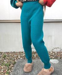 リッチカシミアlib knit pants