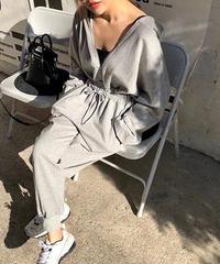 フーディsweat jump suits《gray》