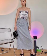 side hole gather skirt/2 color