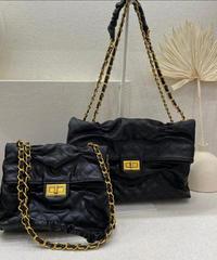ラムスキンchain bag (大)