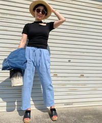 center ステッチwasher pants