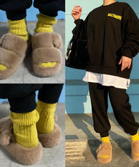 eco fur sandal