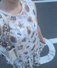 laceパイピングpattern frill op
