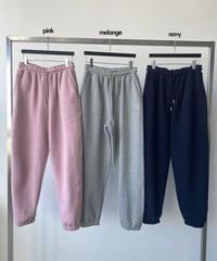labo  fleece logo brush pants/3色