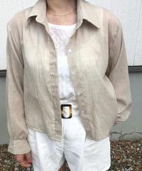 cottonリネン shirt ▫️beige▫️