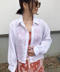 cottonリネン shirt ▫️white▫️