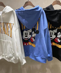 back print mickey  hoody