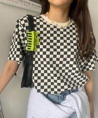 Checker tee/2 color