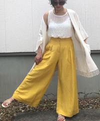 リネン color pants