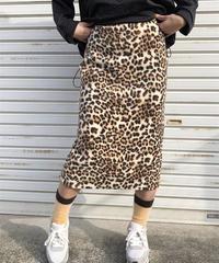 leopard フリースskirt