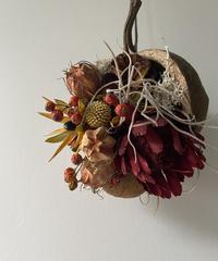 ブッダナッツの飾り 赤、バラの実 送料込み
